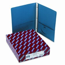 "Two-Pocket Portfolio, Tang Clip, Letter, 1/2"" Capacity, Dark Blue, 25 per Box"