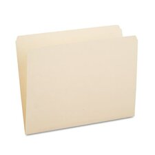 One-Ply Top Tab File Folders, Straight Cut, 100/Box
