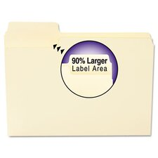Supertab File Folders, 1/3 Cut Top Tab, 100/Box