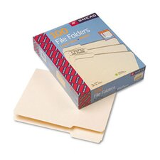 <strong>Smead Manufacturing Company</strong> 1/3 Cut First Position One-Ply Top Tab File Folders, Letter, 100/Box