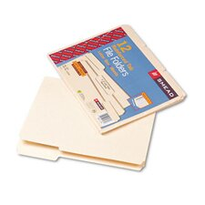 Double-Ply Top Tabs File Folders, 12/Pack