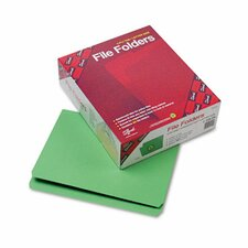 Straight Cut Reinforced Top Tab File Folders, Letter, 100/Box