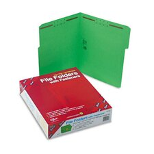 <strong>Smead Manufacturing Company</strong> Two Fasteners 1/3 Cut Assorted Top Tab Folders, Letter, 50/Box