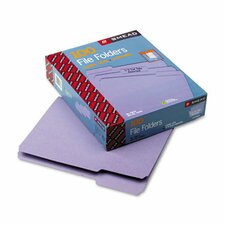 1/3 Cut Reinforced Top Tab File Folders, Letter, 100/Box