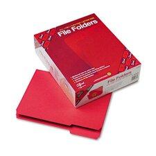 1/3 Cut Reinforced Top Tab File Folders, Letter, 100/Box