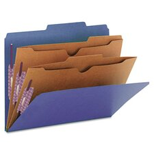 <strong>Smead Manufacturing Company</strong> Pressboard Classification Folders, 2 Pocket Dividers, 10/Box