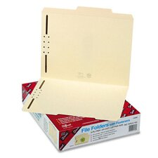 Two Fasteners 2/5 Cut Right Center Top Tab Folder, 50/Box