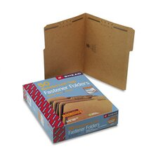 Two Fasteners 1/3 Cut Top Tab 11 Point Kraft Folders, Letter, 50/Box