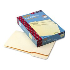 1/3 Cut First Position One-Ply Top Tab File Folders, 100/Box
