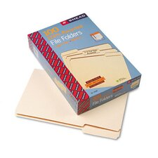 1/3 Cut One-Ply Top Tab 100% Recycled File Folders, 100/Box