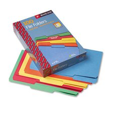 <strong>Smead Manufacturing Company</strong> File Folders, 1/3 Cut Top Tab, Legal, Assorted Colors, 100/Box