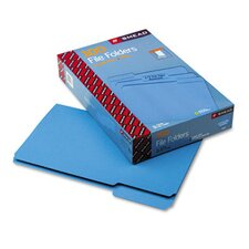 File Folders, 1/3 Cut, Top Tab, Legal, Blue, 100/Box