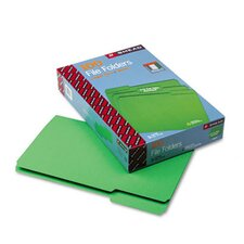 File Folders, 1/3 Cut, Top Tab, Legal, Green, 100/Box
