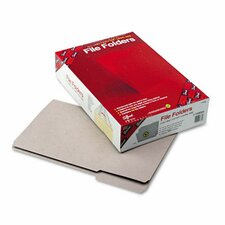 File Folders, 1/3 Cut, Reinforced Top Tab, 11 Point, Legal, Gray, 100/Box