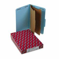 Pressboard Classification Folders, Legal, 6-Section, Blue, 10/box