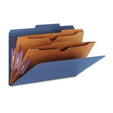 Pressboard Classification Folders, Two Pocket Dividers, 10/Box
