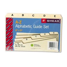 Alpha Self-Tab Card Guides, 25/Set