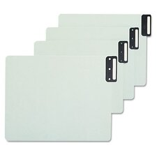 Pressboard Horizontal Metal End Tab Guides, Blank, 50/Box