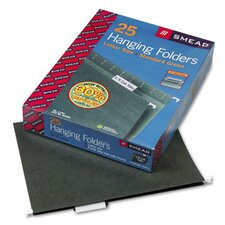 11 Point Stock Hanging Folders, 1/5 Tab, 25/Box