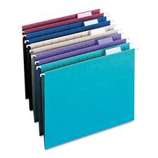 <strong>Smead Manufacturing Company</strong> Designer Assortment Hanging Folders, 1/5 Tab, 11 Point Stock, Letter, 25 per Box