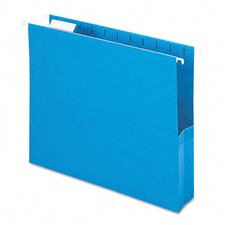 "2"" Capacity Closed Side Flexible Hanging File Pockets, 25/Box"
