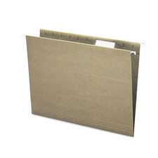 <strong>Smead Manufacturing Company</strong> Recycled Hanging File Folders, 1/5 Tab, 11 Point Stock, Letter, Green, 25/Box