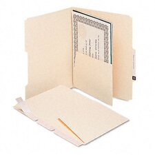 <strong>Smead Manufacturing Company</strong> Mla Self-Adhesive Folder Dividers with 5-1/2 Pockets On Both Sides, 25/Pack