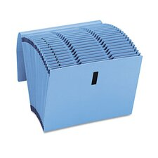 Recycled WaterShed/CutLess Expanding File, Letter, Blue, 1/Each