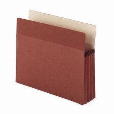 "Easy Grip Pocket, Redrope, Letter, 3 1/2"" Expansion, 25/Box"