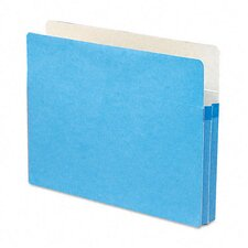 "1 3/4"" Expansion Colored File Pocket, Straight Tab, Letter, Blue"