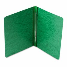 "Side Opening Report Cover, Prong Clip, Letter, 3"" Capacity, Green"