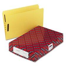 Top Tab Fastener File Folder, 11 Pt. Paperboard, Straight Cut, Blue, 50/Box