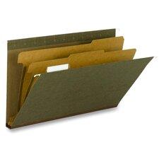 Hanging File Folder, C F Legal, 1/5 2Div Rec, 10/BX, SD/GN