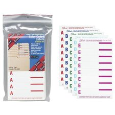 "Top-Tab Folder Labels, A-Z, 3-7/16""x9/16"", 568 per Pack, Assorted"