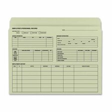 "Employee Record File Folder, 11-1/2""x9-1/2"", 20 per Pack, Manila"
