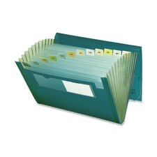 "Expanding Pocket, 12 Pocket, 7/8"" Exp, 13""x9-1/4"", Green"