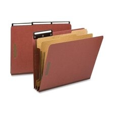 Pressboard Metal Tab Classification Folders, Letter, 10/Box