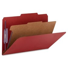 Pressboard Classification Folders, Legal, Four-Section, 10/Box