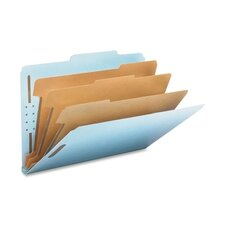 "3"" Expansion Classification Folders, 2/5 Cut, 10/Box"