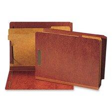 Six-Section Pressboard Classification End Tab Folders, 10/Box