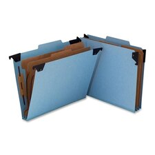 Six Section Hanging Classification Folder, Pressboard/Kraft