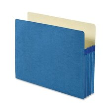 3.5 Inch Accordion Expansion Colored File Pocket, Straight Tab