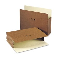 "5.25"" Accordion Expansion File Pocket, Straight Tab, 10/Box"