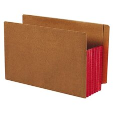 5.25 Inch Accordion Expansion File Pockets Straight Tab, 10/Box