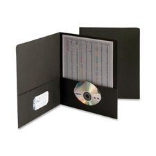 Two-Pocket Portfolio, Embossed Leather Grain Paper, 25/Box