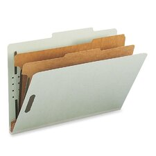 Manila Classification Folders with 2/5 Right Tab, 10/Box
