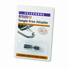 Rotating 360 Telephone Cord Detangler, Clear/Black