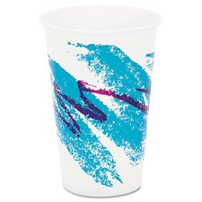 Jazz 16 oz. Waxed Paper Cold Cups (Set of 1000)