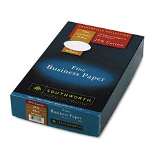 25% Cotton Business Paper, 20 Lbs., Wove,8-1/2 X 14, 500/Box, Fsc