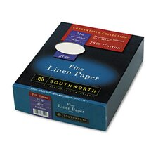 25% Cotton Linen Business Paper, 500/Box, Fsc